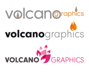 Evolution du logo Volcanographics