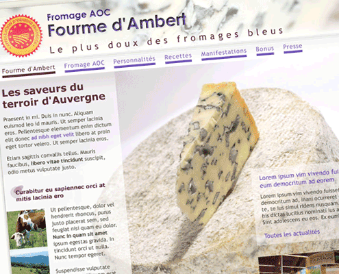 Portfolio volcanographics cr ation de site internet en auvergne - Office du tourisme ambert ...