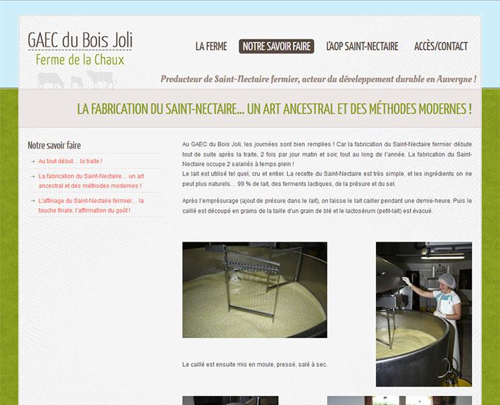 GAEC du Bois Joli - Producteur de Saint-Nectaire fermier