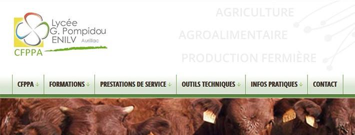 Refonte du site du CFPPA d'Aurillac